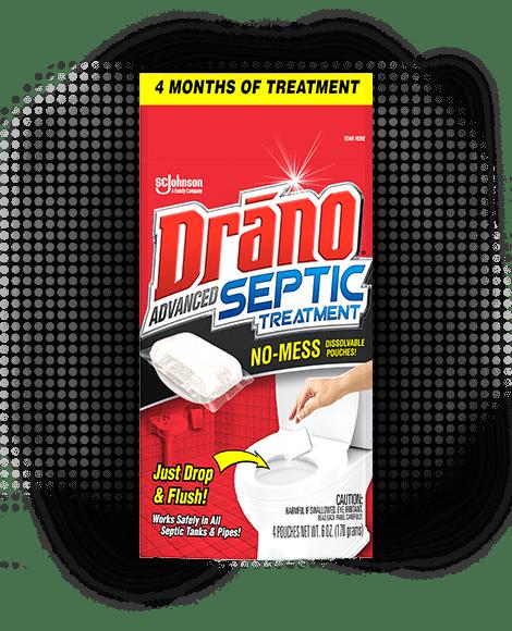 Drano Advanced Septic Treatment Front