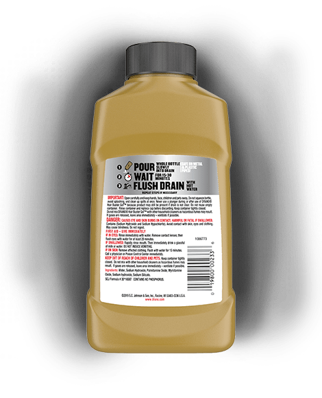 Drano Hair Buster Gel Back